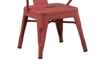 Solid Steel Industrial Pink Kids Play Stackable Metal Chair Arms (set of 2)