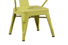 Rugged Steel Stacking Industrial Limeade Kids Play Metal Chair Arms (set of 2)