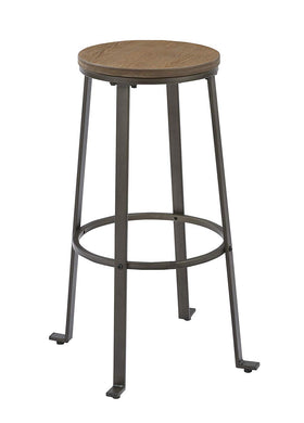 BTEXPERT 5081 Round 30 Inch Counter Bar Stool, Rustic