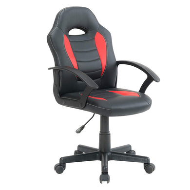 BTEXPERT Kid's Gaming and Student Racer Computer Chair with Lumbar Support Wheels, Black Red
