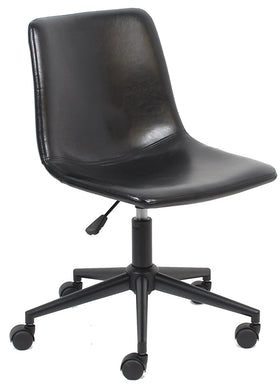 BTExpert Aati Mid Back Fuax Leather Task Chair, Black Office Chair