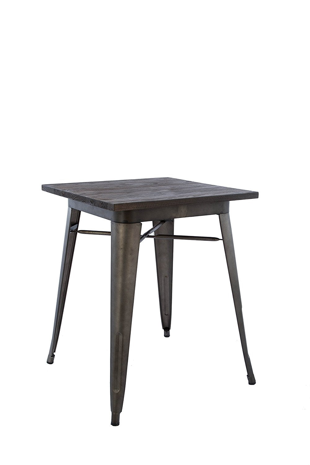 Picture of: Industrial Antique Rustic Metal Indoor Outdoor Dining Table With Wood Btexpert