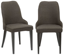 Btexpert Fabric Upholstery Dining Chairs, Set of 2, Steel, Dark Gray