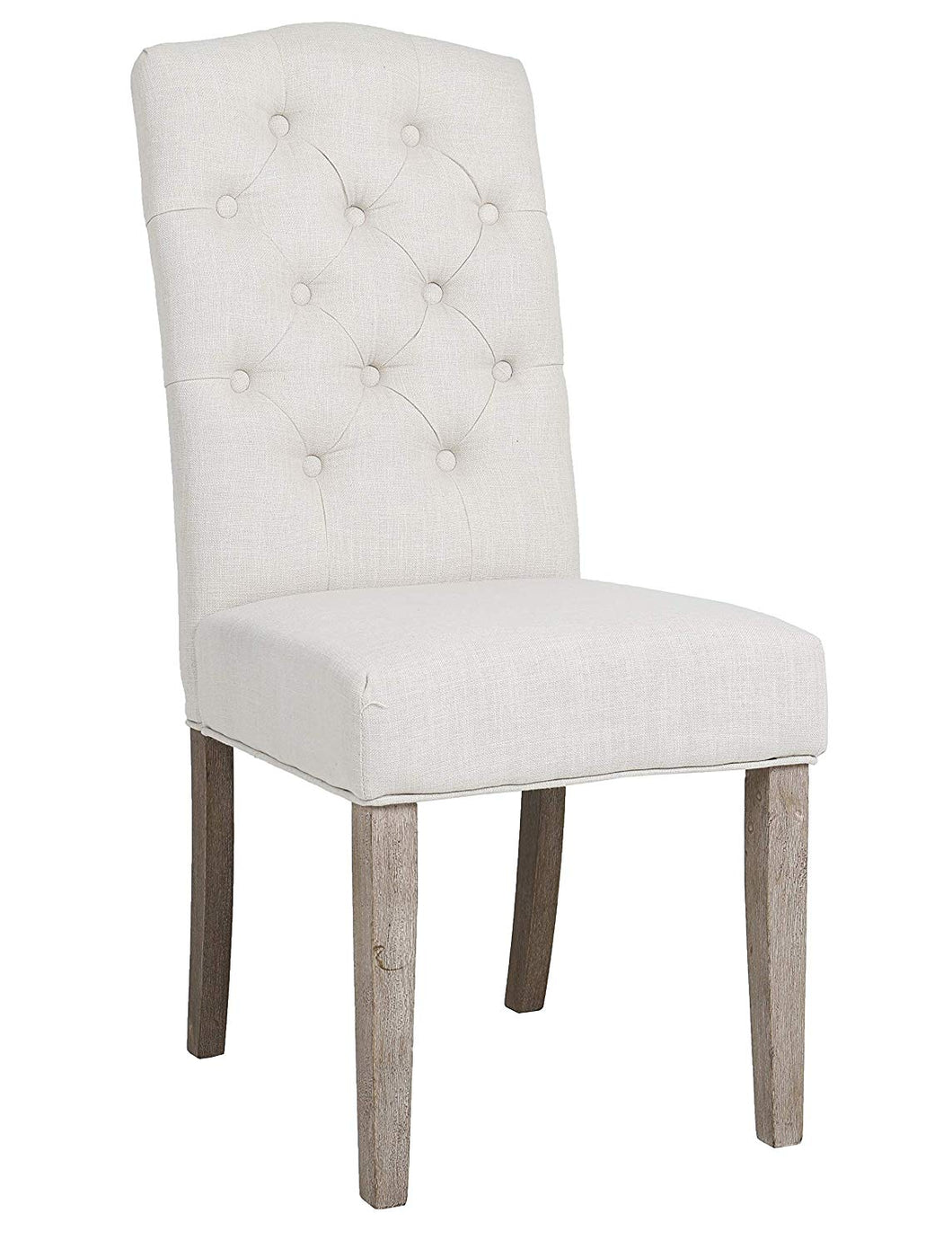BTexpert French High Back Tufted Upholstered Dining Chair, Set of 2