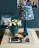 Sybil Gathered Shade - Blue Ikat