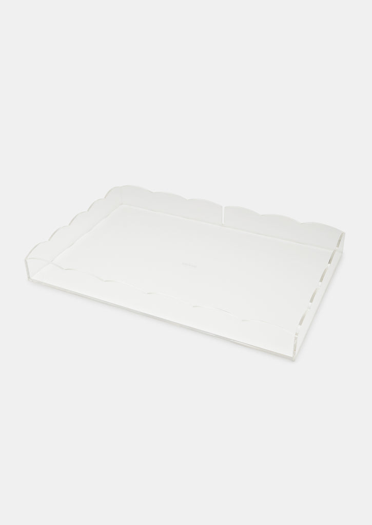 Bragg & Co Perspex tray - Large Scallop Edge with cut out