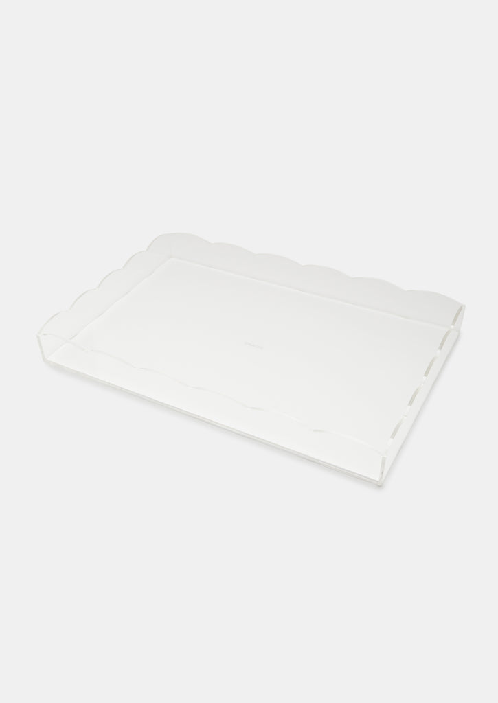 Bragg & Co Perspex tray - Large Scallop Edge