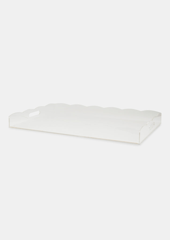 Bragg & Co Perspex tray - Oversized Scallop Edge