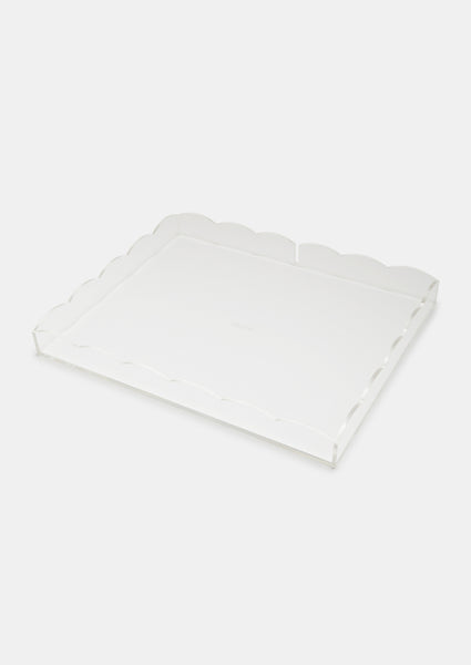 Bragg & Co Perspex tray - Small Scallop Edge with cut out