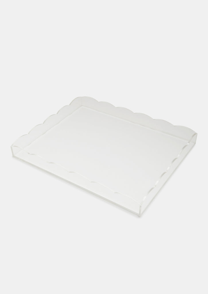 Bragg & Co Perspex tray - Small Scallop Edge