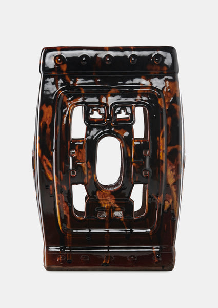 Limited Edition Ceramic Stool - Tortoiseshell
