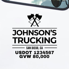 Custom Business Truck Decals (Great For USDOT Lettering