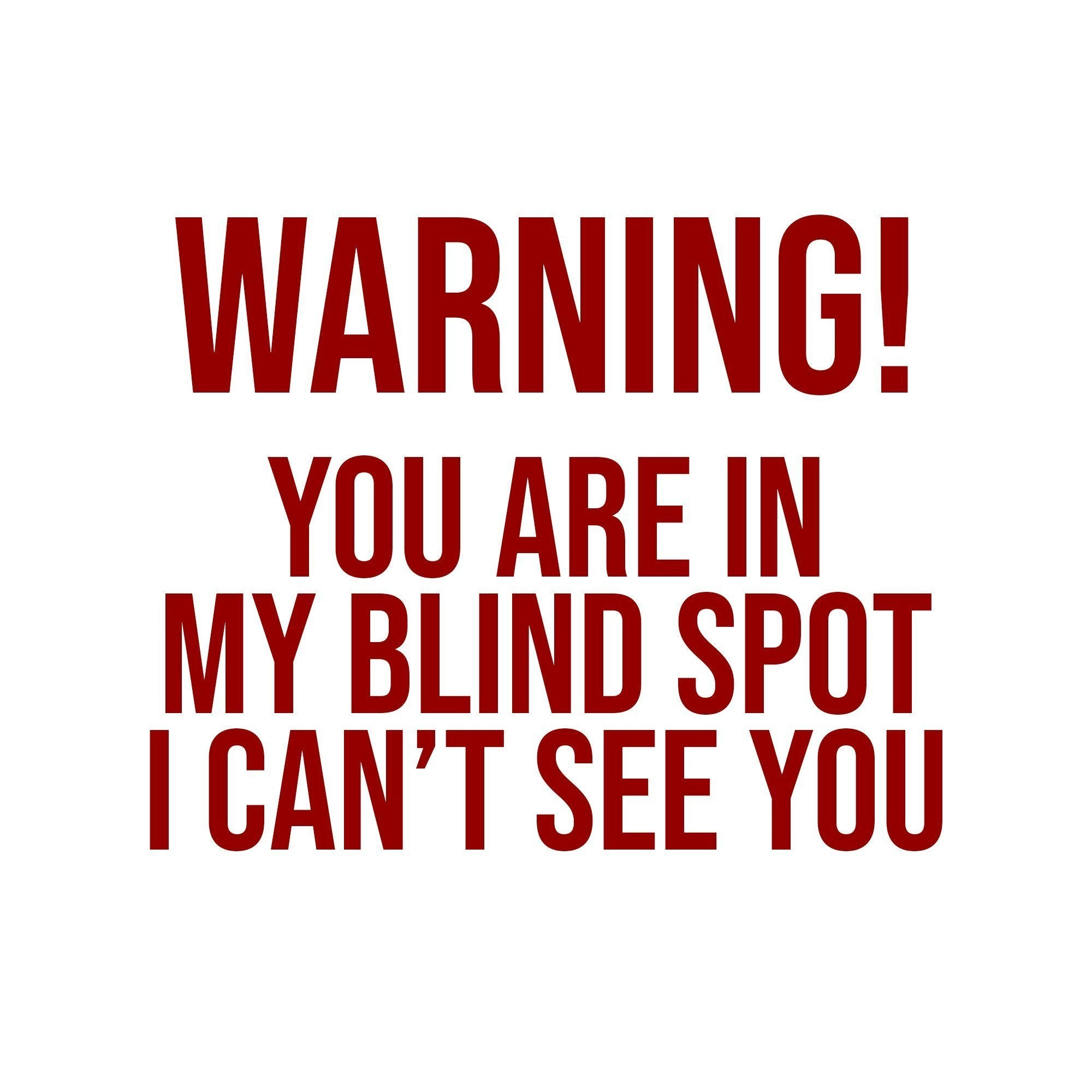 Blind Spot Decal For Semi Trucks Us Decals