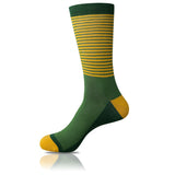 Yellow Leaf // Striped Socks - Zockz