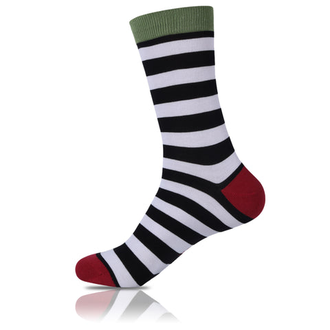 Jingle Bell // Striped Socks - Zockz