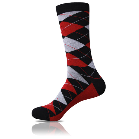 Red Tie Affair // Argyle Socks - Zockz