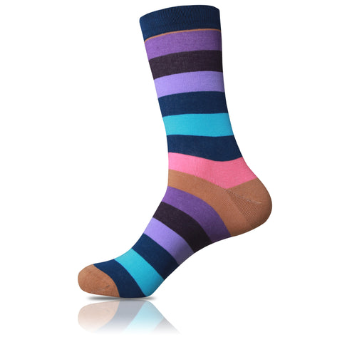 Cognac // Striped Socks - Zockz