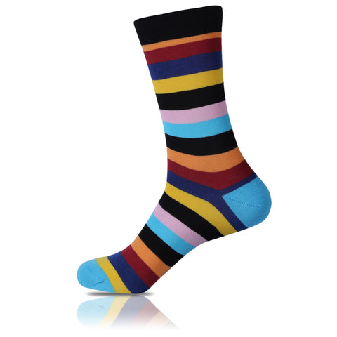 Gouldian Finch // Striped Socks - Zockz