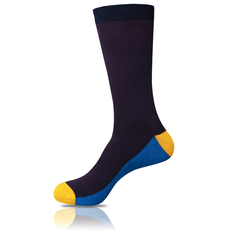 Gold in the Navy // Patterned Socks - Zockz