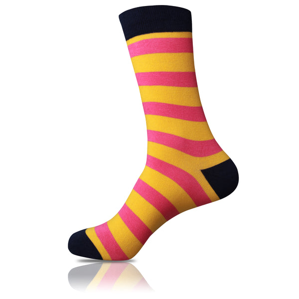 Highlighter // Striped Socks - Zockz