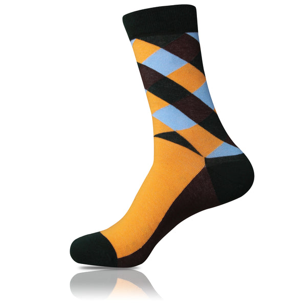 Florida Orange // Patterned Socks - Zockz