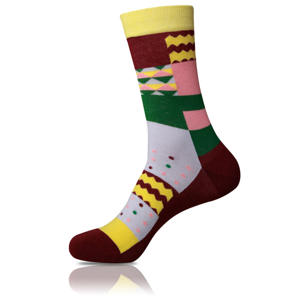 Gingerbread Feet // Patterned Socks - Zockz