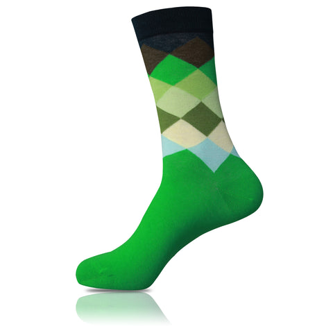 Green Apple // Patterned Socks - Zockz