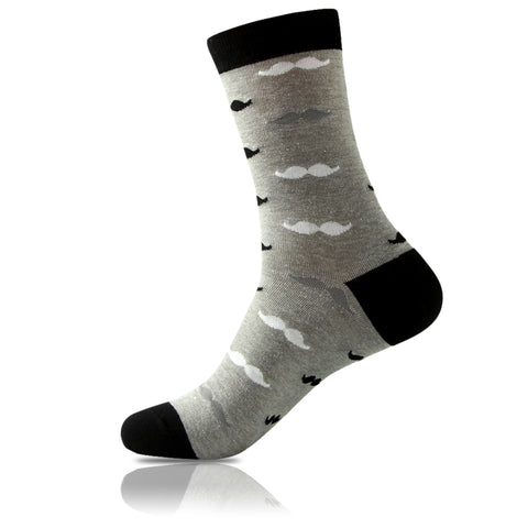 La Moustache Noir // Patterned Socks - Zockz