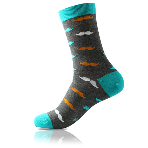 La Moustache Orange // Patterned Socks - Zockz