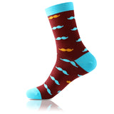 La Moustache Brun // Patterned Socks - Zockz