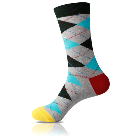 Level Up // Argyle Socks - Zockz