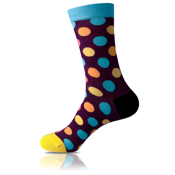 Purple Trip // Polka Dot Socks - Zockz