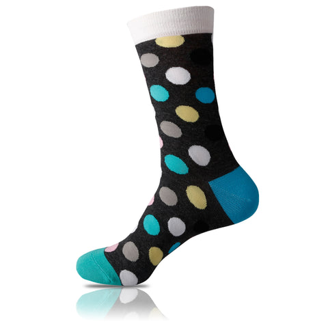 Dark Mint // Polka Dot Socks - Zockz