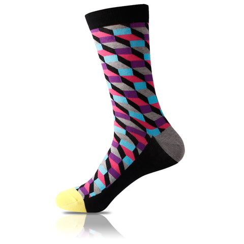 Señor Yellow Toe // Patterned Socks - Zockz