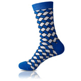 Blue Weave // Patterned Socks - Zockz