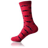 La Moustache Rouge // Patterned Socks - Zockz