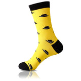 Black & Yellow // Patterned Socks - Zockz