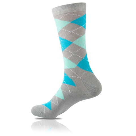 Shades of Blue // Argyle Socks - Zockz