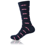 La Moustache Bleu Marine // Patterned Socks - Zockz
