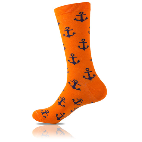 Captain Orange // Patterned Socks - Zockz