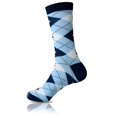 Scattered Clouds // Argyle Socks - Zockz