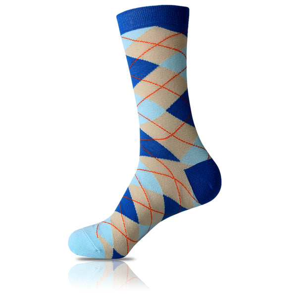 Royal Diamonds // Argyle Socks - Zockz