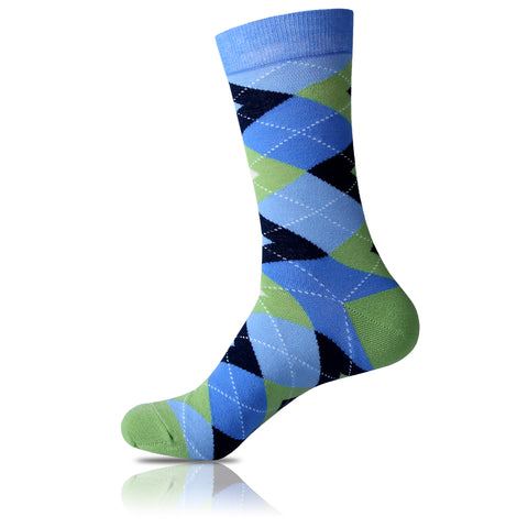 Pastel Blues // Argyle Socks - Zockz