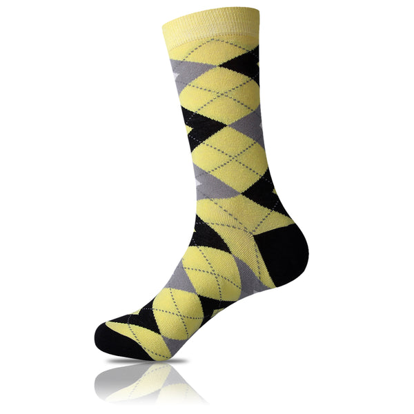Highlighter Obsessed // Argyle Socks - Zockz