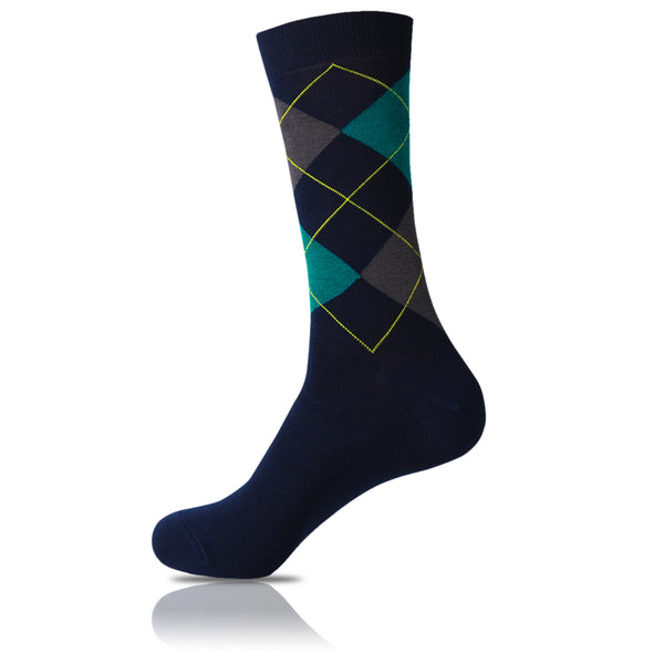 Crop Diamonds // Argyle Socks - Zockz