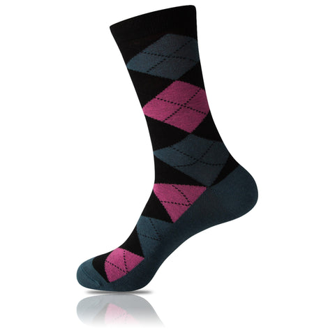 Dark Dapper // Argyle Socks - Zockz