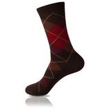 Chocolate & Cherries // Argyle Socks - Zockz