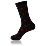 Classy in Red // Patterned Socks - Zockz