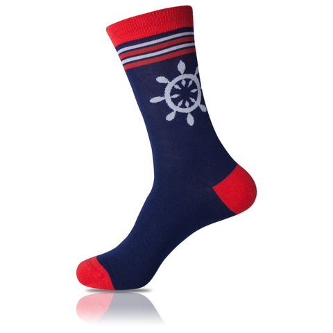 Ship Wheel // Patterned Socks - Zockz
