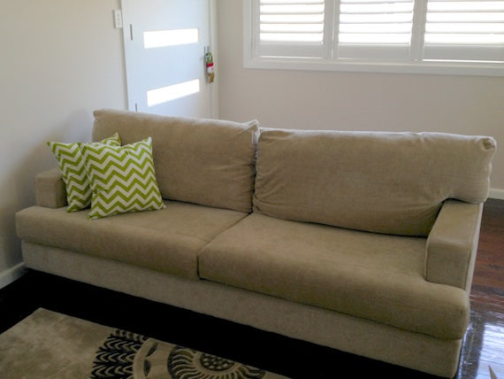 Custom Made Chevron Cushions